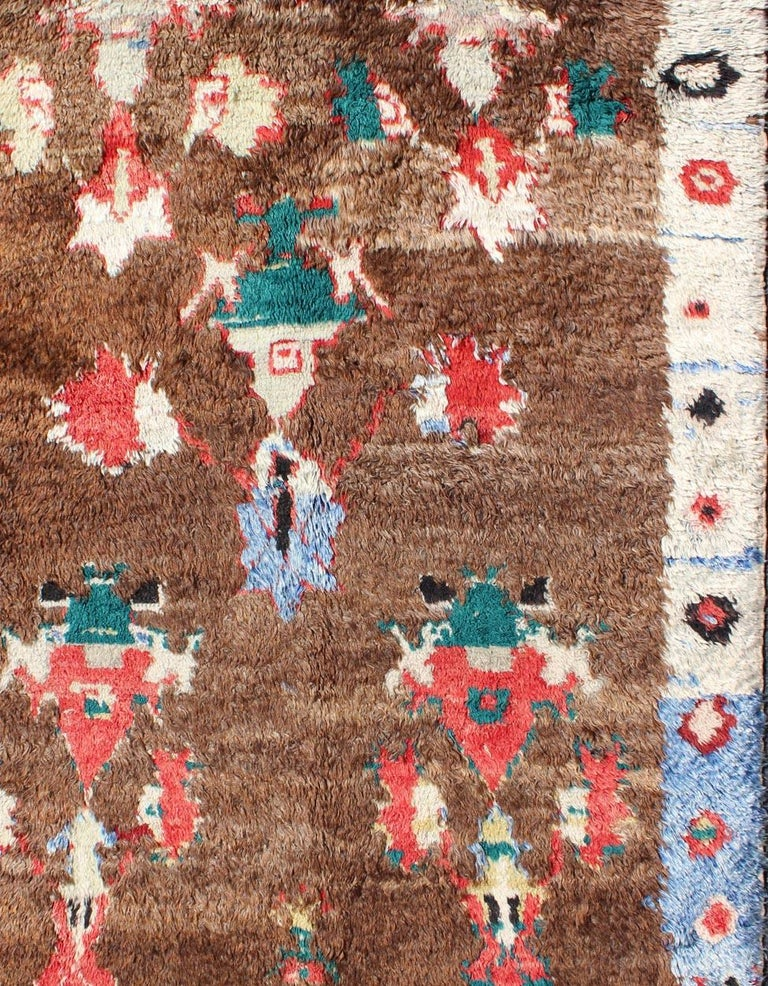 Mid-20th Century Colorful Antique Tulu Rug For Sale