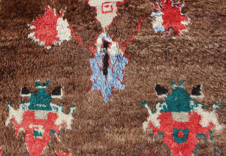 Colorful Antique Tulu Rug For Sale 2