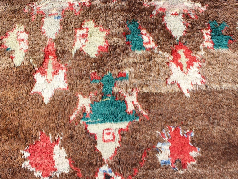 Colorful Antique Tulu Rug For Sale 3