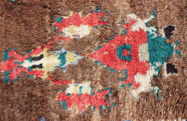 Colorful Antique Tulu Rug For Sale 5