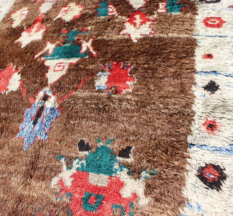 Colorful Antique Tulu Rug For Sale 6