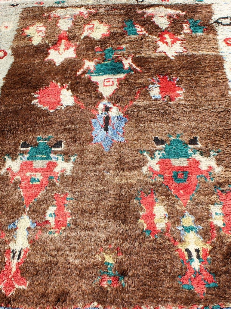 Colorful Antique Tulu Rug For Sale 7