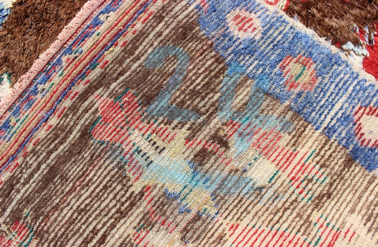 Colorful Antique Tulu Rug For Sale 9
