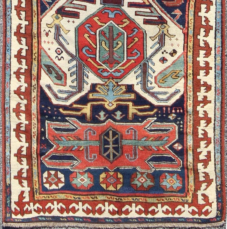Antique Caucasian Lenkoran Runner For Sale At 1stdibs