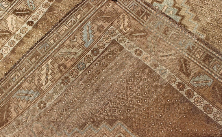 Tribal Turkish Oushak Gallery Rug For Sale 3