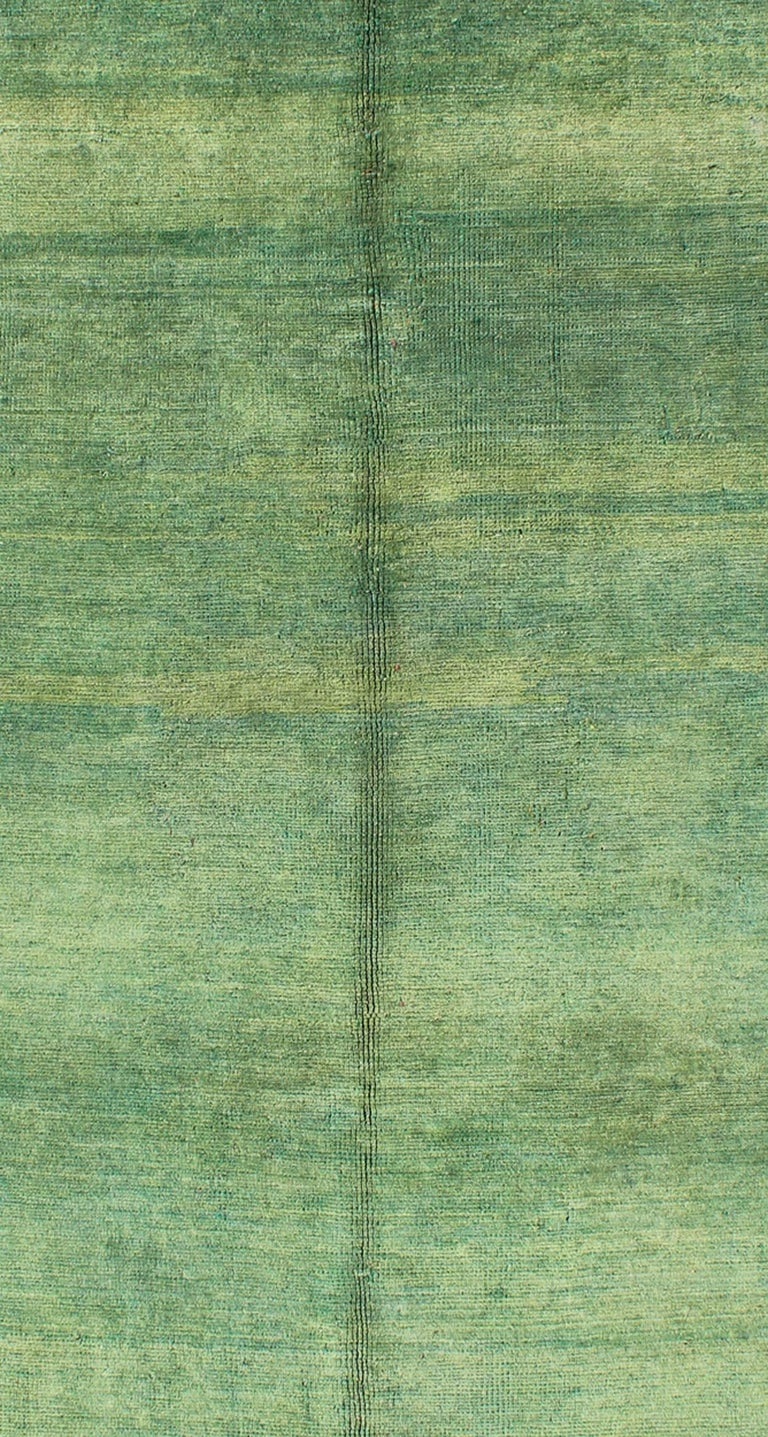 Vintage Oushak Rug With Green Background At 1stdibs