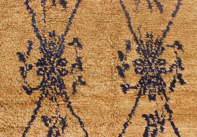 Vintage Blue Tulu Rug For Sale 2