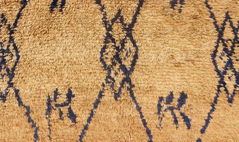 Vintage Blue Tulu Rug For Sale 3