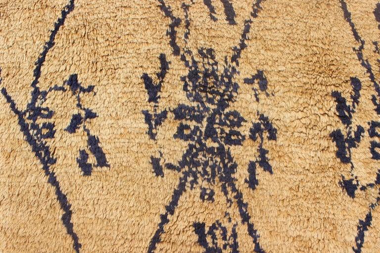 Vintage Blue Tulu Rug For Sale 4