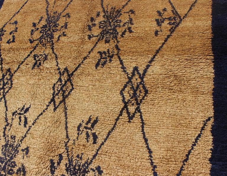 Vintage Blue Tulu Rug For Sale 5