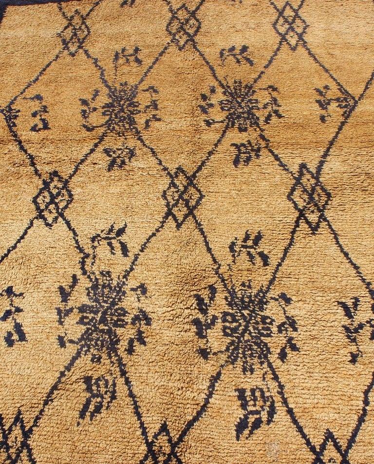 Vintage Blue Tulu Rug For Sale 6