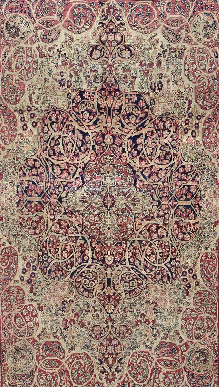 Kirman Antique Persian Lavar Kerman Rug For Sale