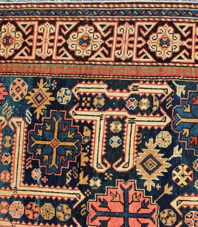 Kazak Antique Caucasian Karaghashli Rug For Sale