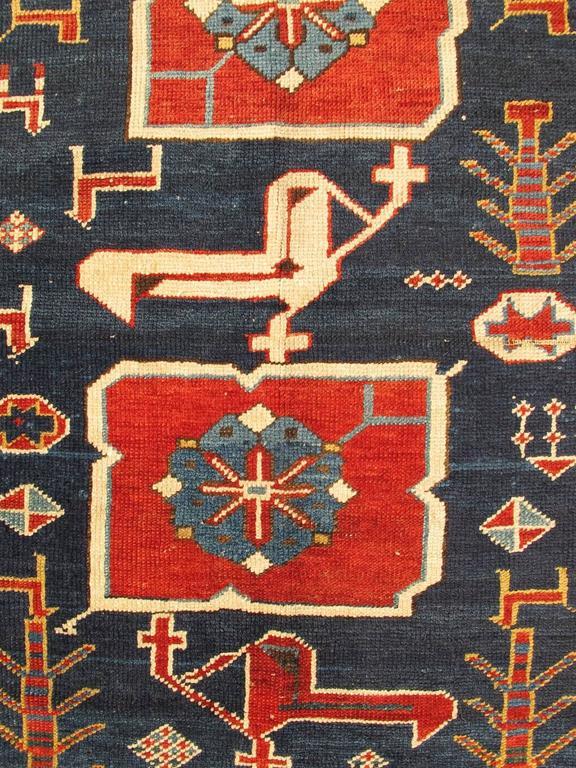 Antique Caucasian Karaqashl Rug 3