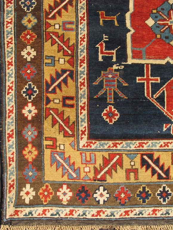 Antique Caucasian Karaqashl Rug 2