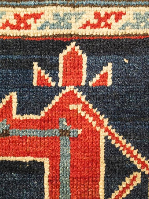 Antique Caucasian Karaqashl Rug 4
