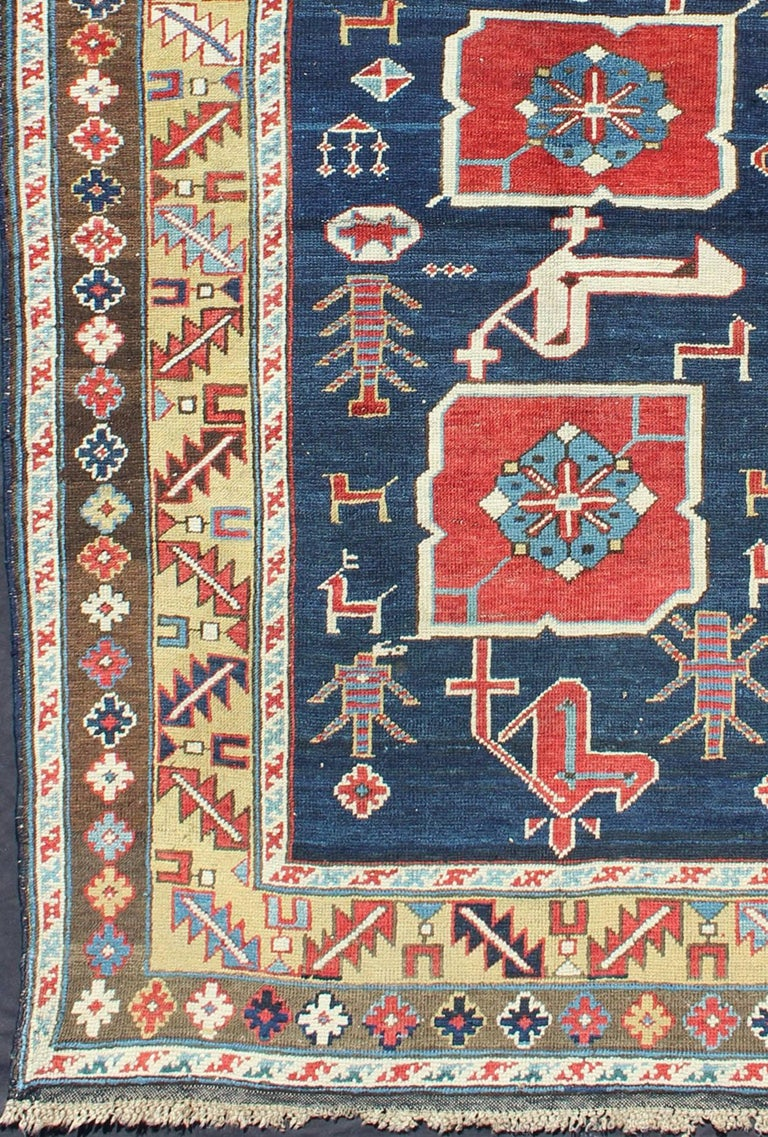 Woven in the Kuba district of the northeast Caucasus Mountain, this Karagashli features a distinctive combination of bold geometry enhanced by a beautifully saturated color palette. This example, from the late 19th century, features three red
