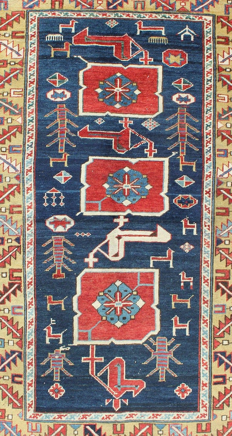 Kazak Antique Caucasian Karaqashl Rug For Sale