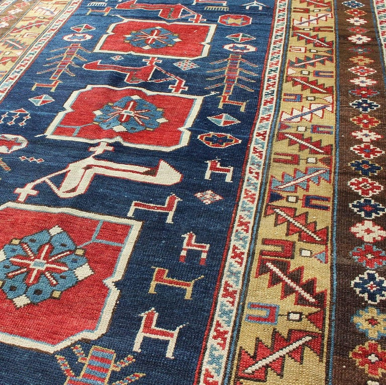 Antique Caucasian Karaqashl Rug In Excellent Condition For Sale In Atlanta, GA
