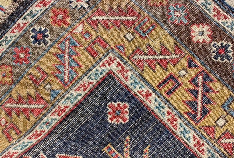Wool Antique Caucasian Karaqashl Rug For Sale