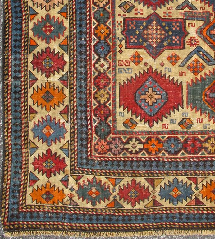 Antique Shirvan Caucasian Rug 4