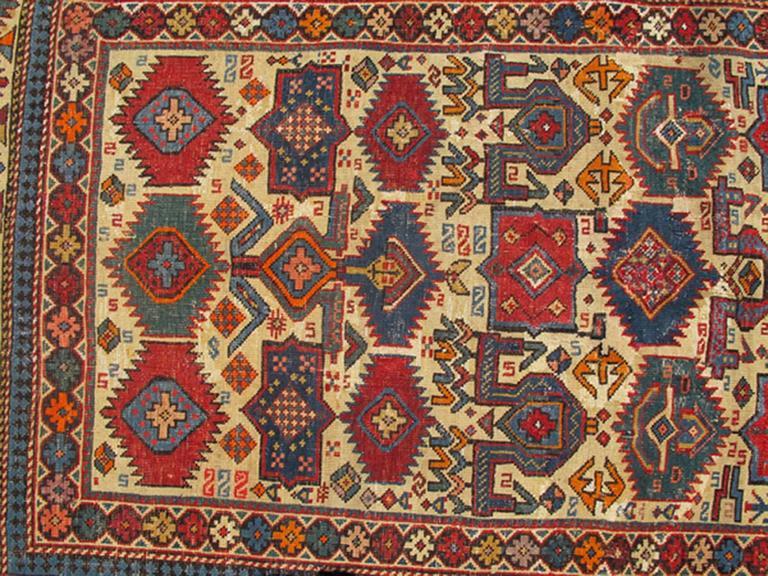 Antique Shirvan Caucasian Rug 3