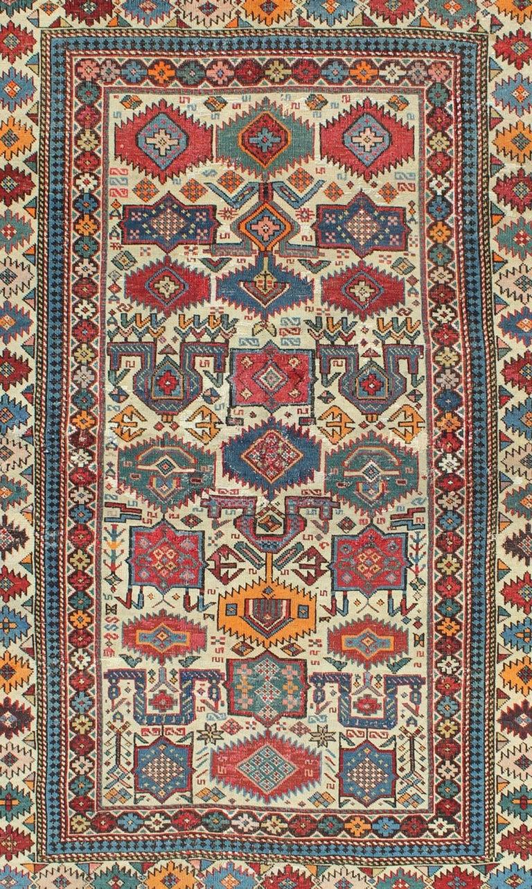 Kazak Antique Shirvan Caucasian Rug For Sale