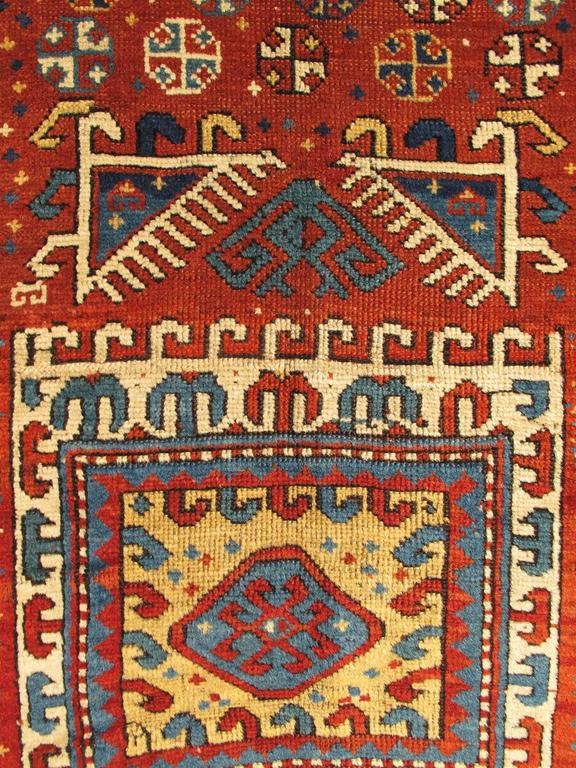 Antique Russian Caucasian Kazak Rug 4