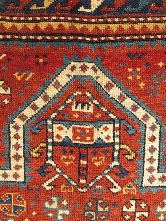 Antique Russian Caucasian Kazak Rug 3