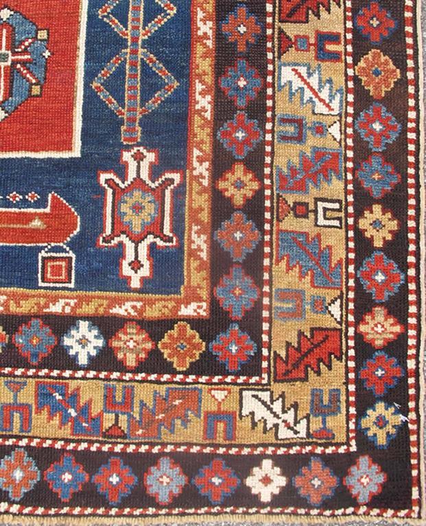 Antique Caucasian Qaraqashli Rug 2