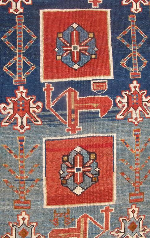 Antique Caucasian Qaraqashli Rug 3
