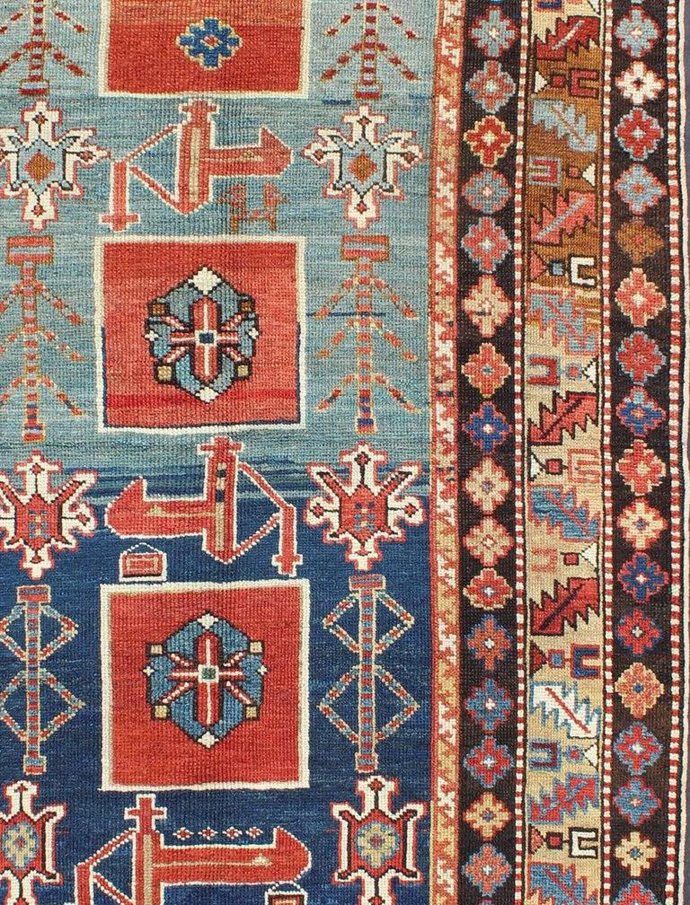Antique Caucasian Qaraqashli Rug In Good Condition For Sale In Atlanta, GA