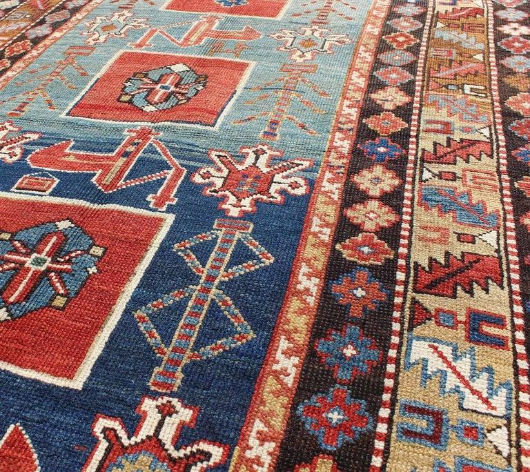 Late 19th Century Antique Caucasian Qaraqashli Rug For Sale