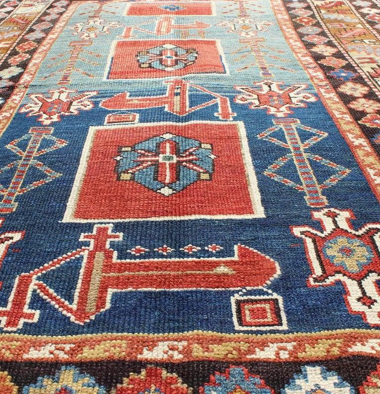 Wool Antique Caucasian Qaraqashli Rug For Sale