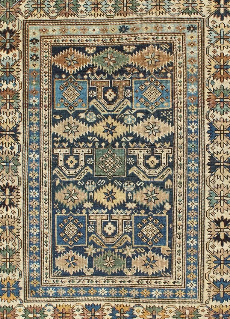 Kazak Antique Caucasian Shirvan Rug For Sale