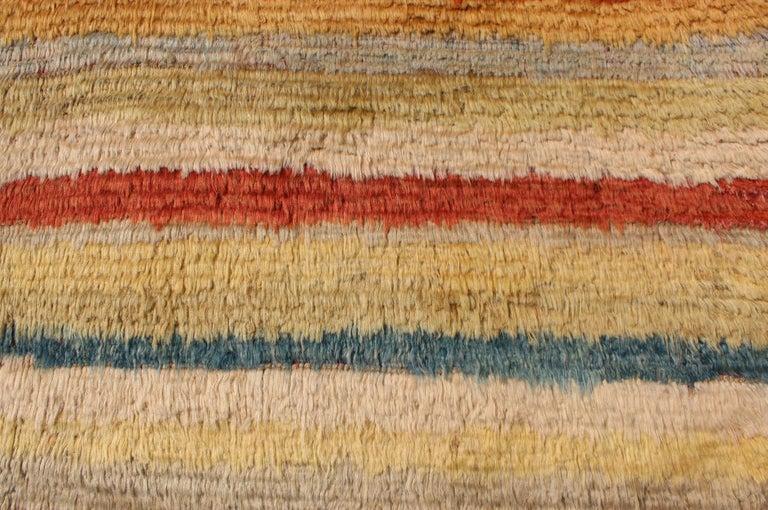 Vintage Turkish Tulu Rug with Stripes For Sale 2