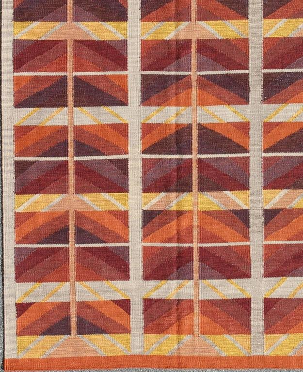 Mid 20th Century Modern Scandinavian Area Rug At 1stdibs: Large Modern Swedish Design Rug With Architectural And