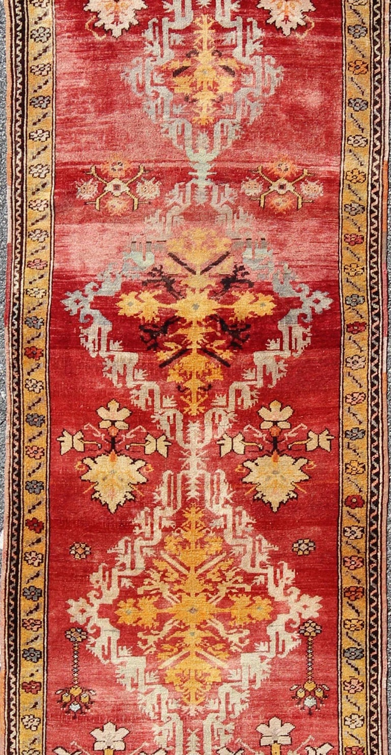 20th Century Antique Turkish Oushak Runner For Sale