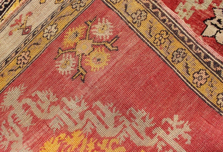 Antique Turkish Oushak Runner For Sale 2