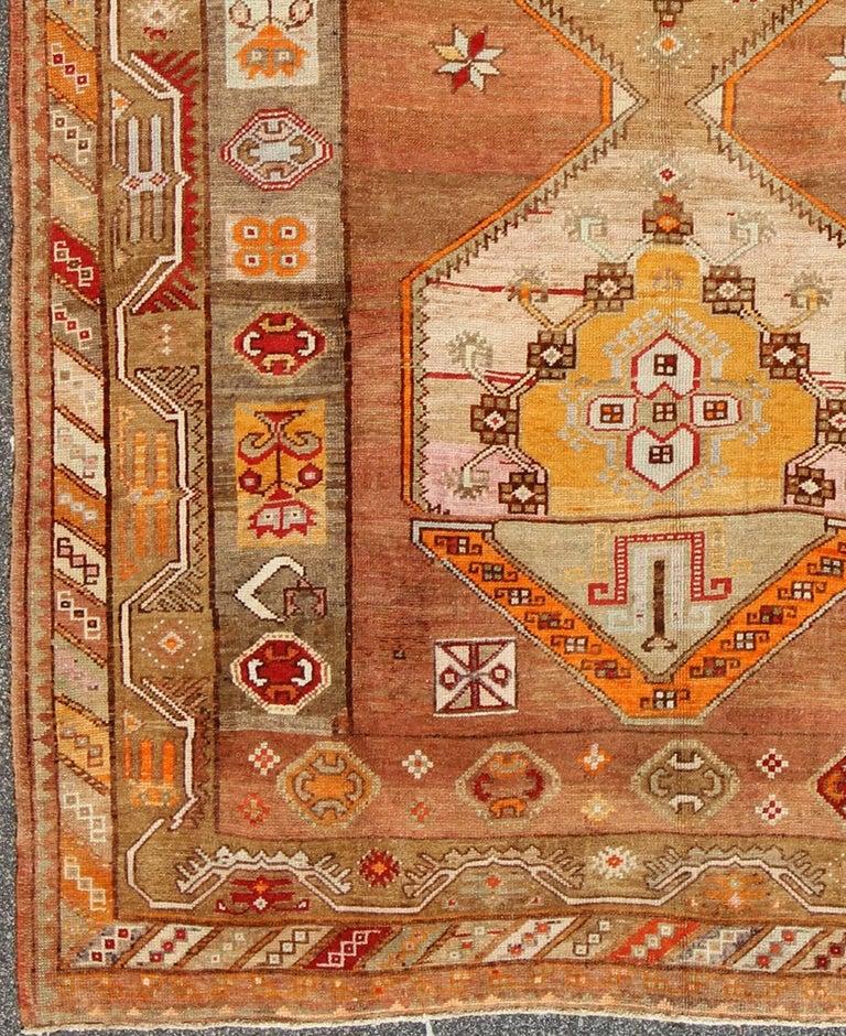 Turkish Rug Austin: Beautiful Turkish Oushak Rug With Geometric Design At 1stdibs