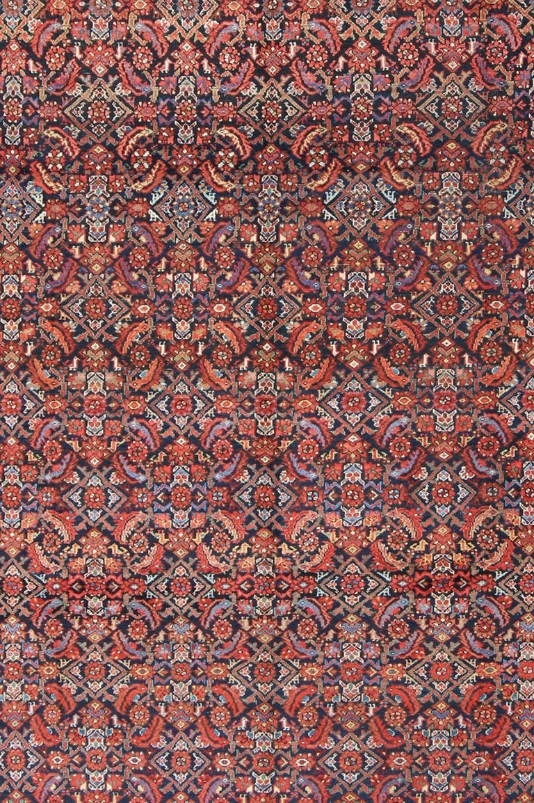 Antique Persian Malayer Rug In Excellent Condition For Sale In Atlanta, GA