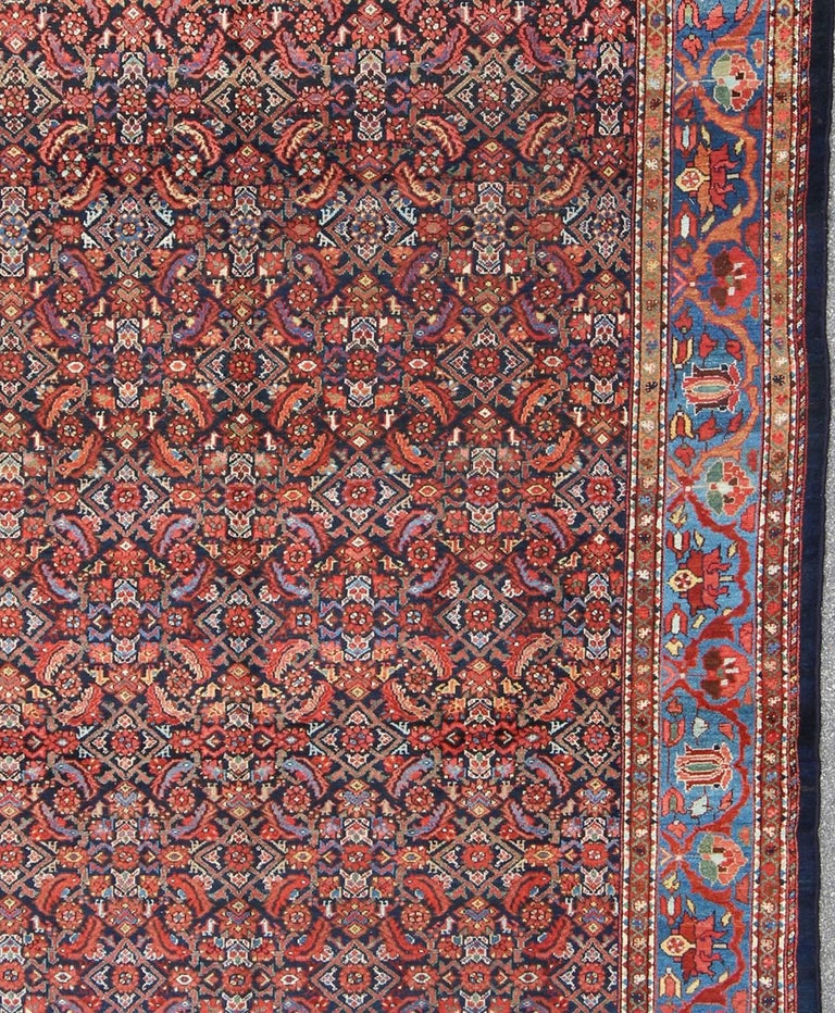 Early 20th Century Antique Persian Malayer Rug For Sale