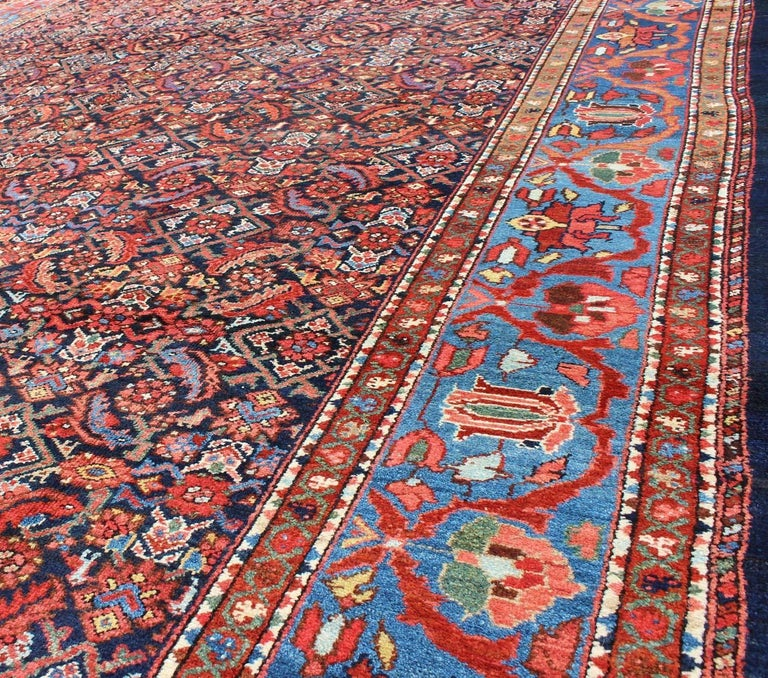 Wool Antique Persian Malayer Rug For Sale