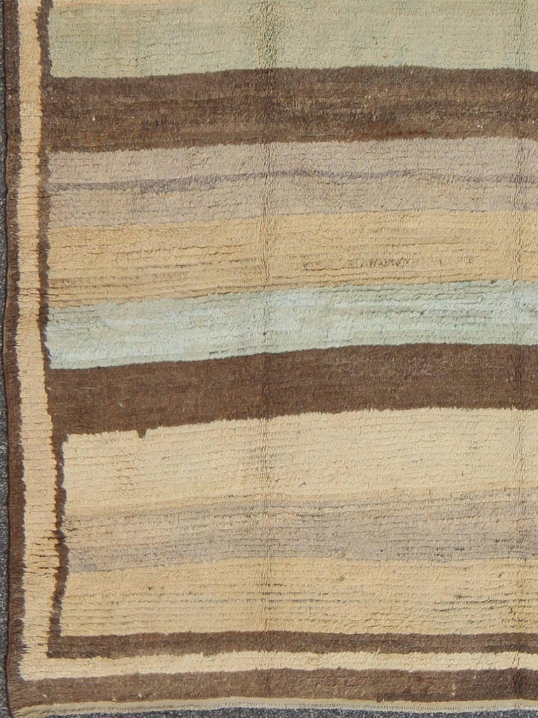 Vintage Tulu Rug with Multiple Bands of Colors 2