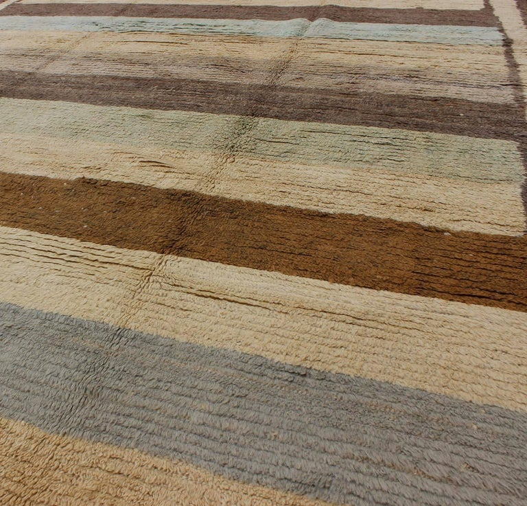 Vintage Tulu Rug with Multiple Bands of Colors 5