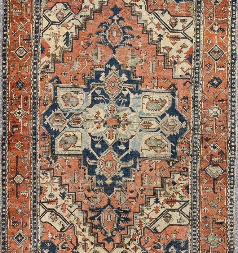 Antique Persian Serapi Rug At 1stdibs