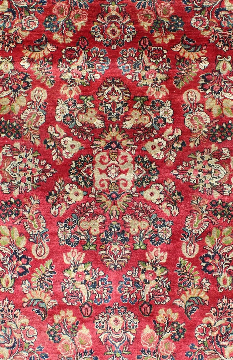 Very Fine Persian Sarouk Small Rug For Sale At 1stdibs