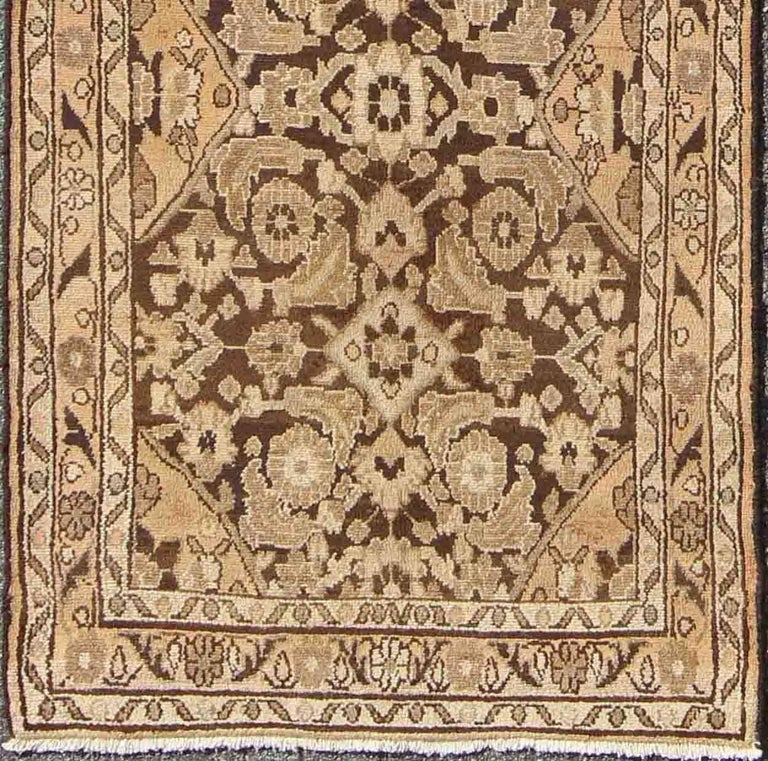 Vintage Hamedan With Intricate Flowers And Vines In Earth