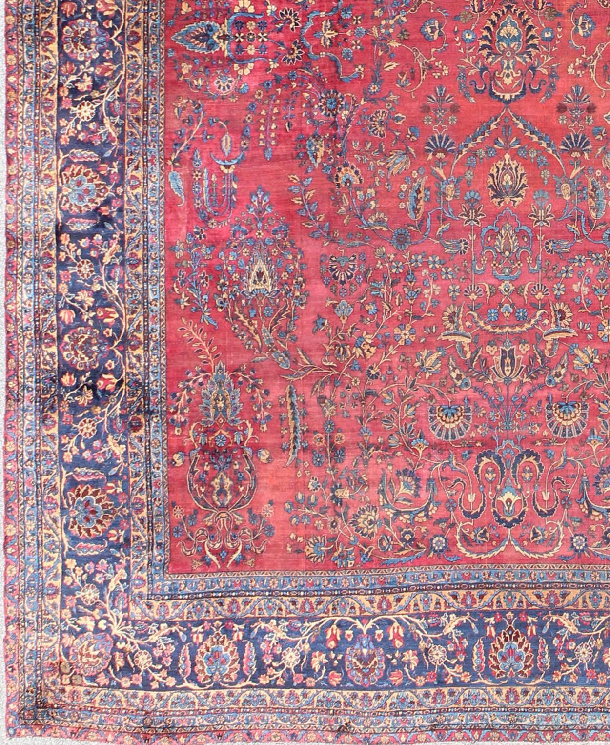 Antique Persian Kerman Rug With Cypress And Paisley Motifs 2