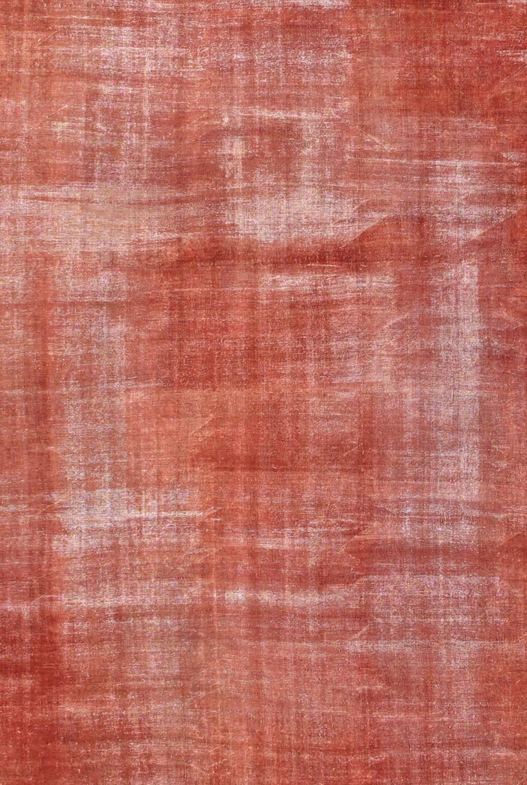 Antique Sultanabad Carpet With Open Red Field And Yellow